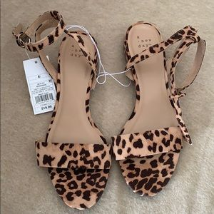 Winona Leopard Ankle Strap Sandals - A New Day™